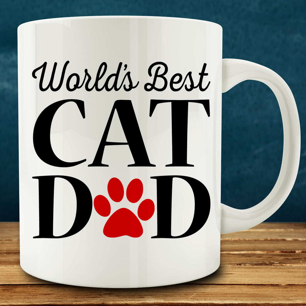 World's Best Cat Dad Mug, gift for cat daddy 11 oz coffee tea