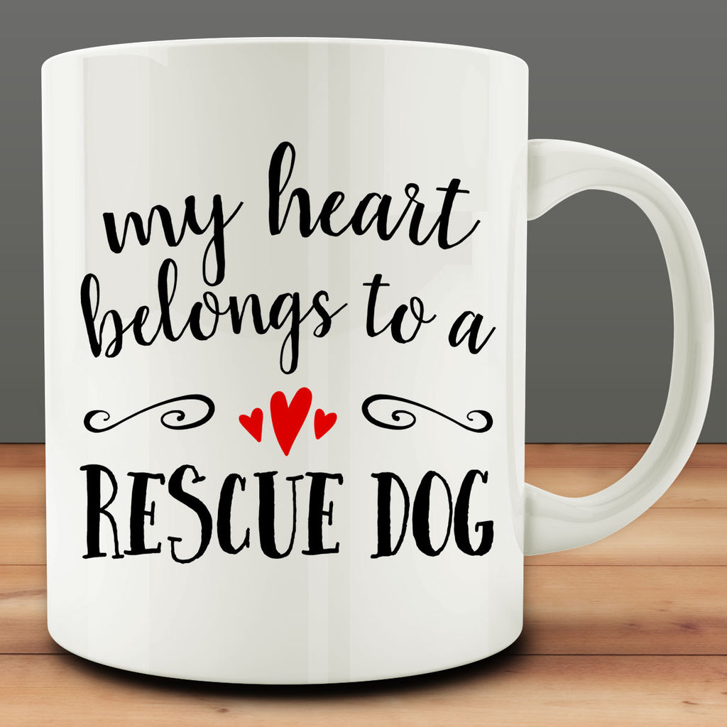 My Heart Belongs to a Rescue Dog Mug