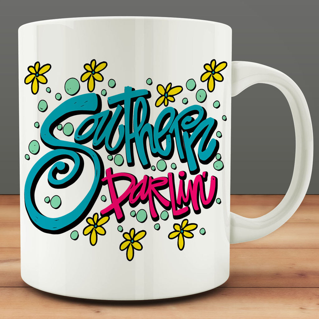 Southern Darlin' Mug, gift for southern girl 11 oz coffee mug