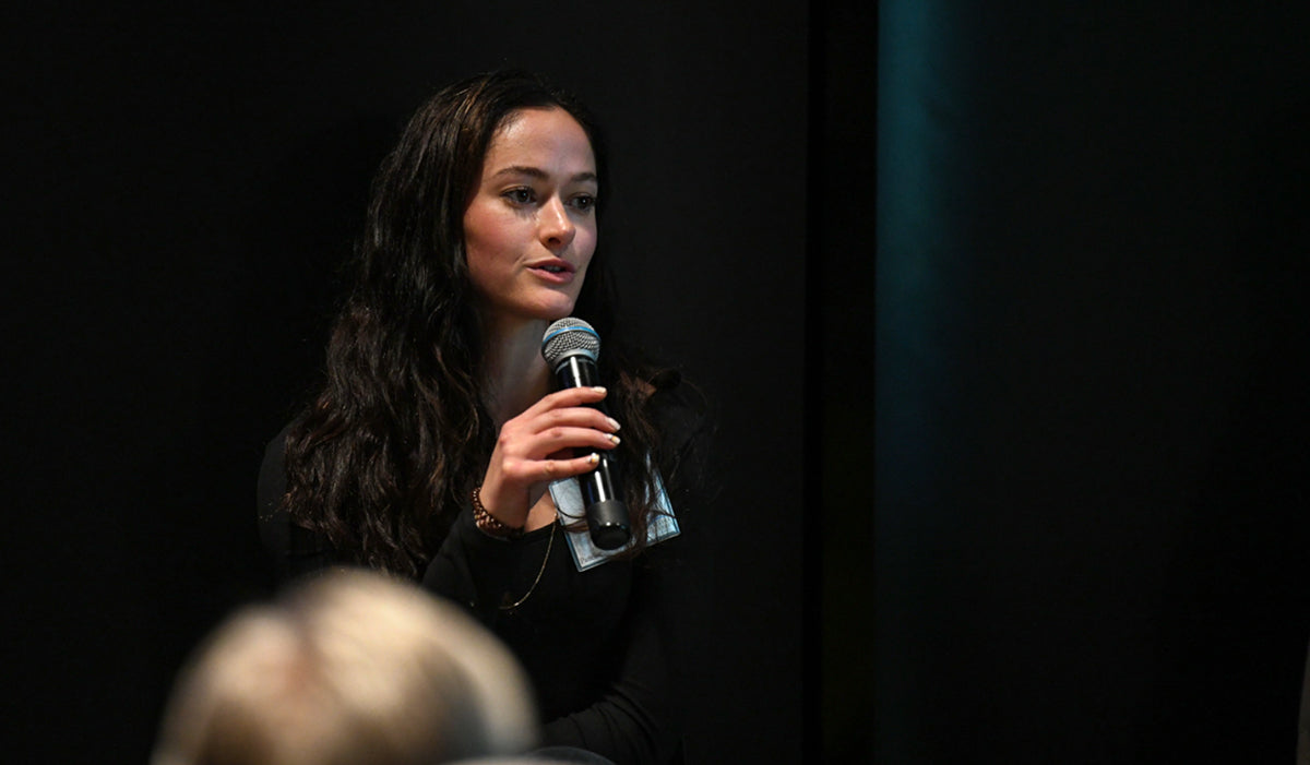 Maia Wikler at a speaking engagement