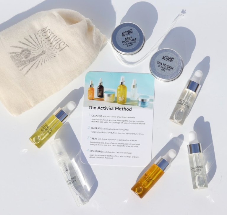 Activist Skincare sample kit