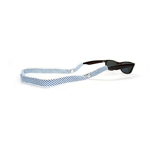 Navy Seersucker Sunglass Straps by Cotton Snaps