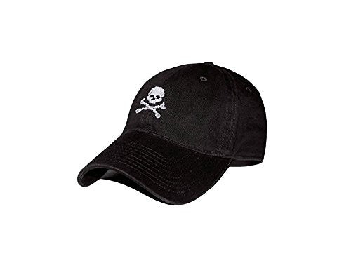 Smathers & Branson Jolly Roger Needlepoint Hat - Black (HAT-14)