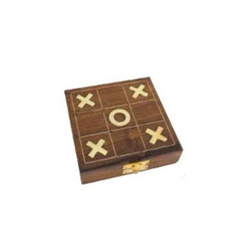 "Wooden Tic Tac Toe Game (5""x5""x1.5"")"