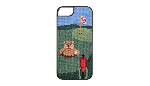 Smathers & Branson iPhone 6/7 Hand-stitched Needlepoint Case - Gopher Golf (I6-08)