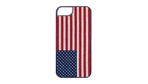 Smathers & Branson iPhone 6 Hand-stitched Needlepoint Case - American Flag (I6-12)