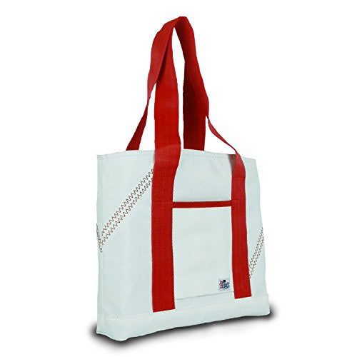 Sailor Bags Mini Tote Bag with Red Straps, One Size, White/Red