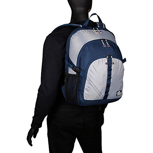 SailorBags Silver Spinnaker Daypack (Silver with Blue Trim)