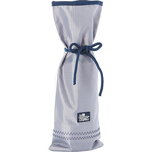 SailorBags Silver Spinnaker Bottle Bag (Silver with Blue Trim)