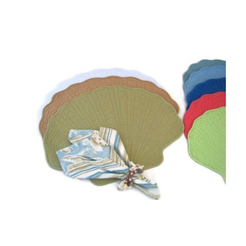 "Light Blue Shell Quilted Placemat (14""x20"")"