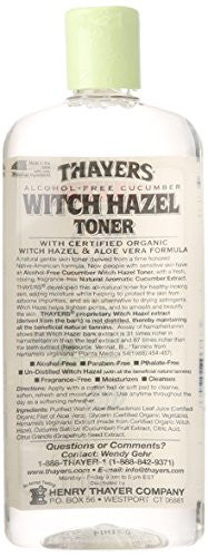 Thayer Cucumber Witch Hazel with Aloe Vera Formula, 12 Fluid Ounce
