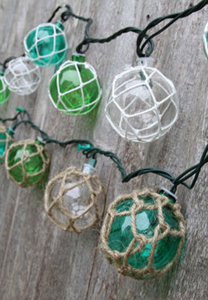 Nautical Retro Glass-Style Buoy Plastic String Lights-Assorted Styles