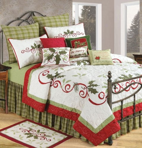 "Holiday Garland King Size Quilt (108 x 92"")"