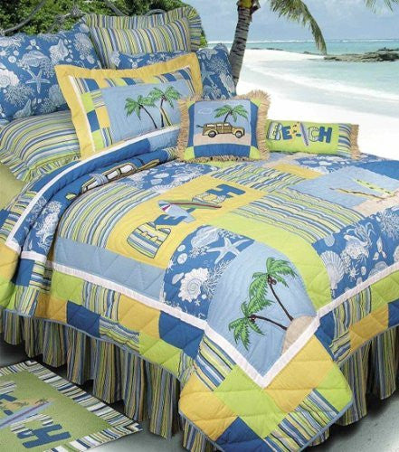 Surfers Bay Collection Quilt (100 by 90-Inch)