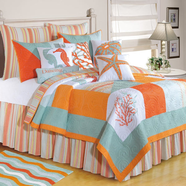Fiesta Key Coral Square Pillow