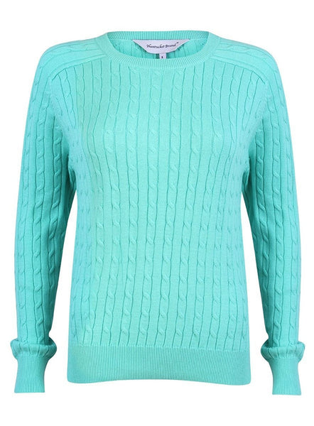 Nantucket Brand Women's Cotton Cable Knit Sweater