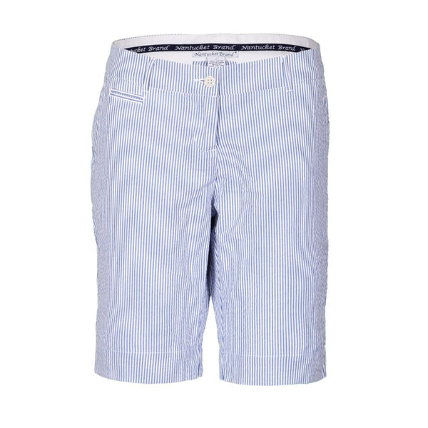 Women's Seersucker Bermuda Shorts