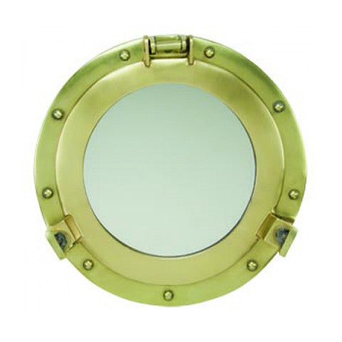 Antique Brass Porthole Mirrors