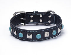 The Ascher - Black/Turquoise Stones