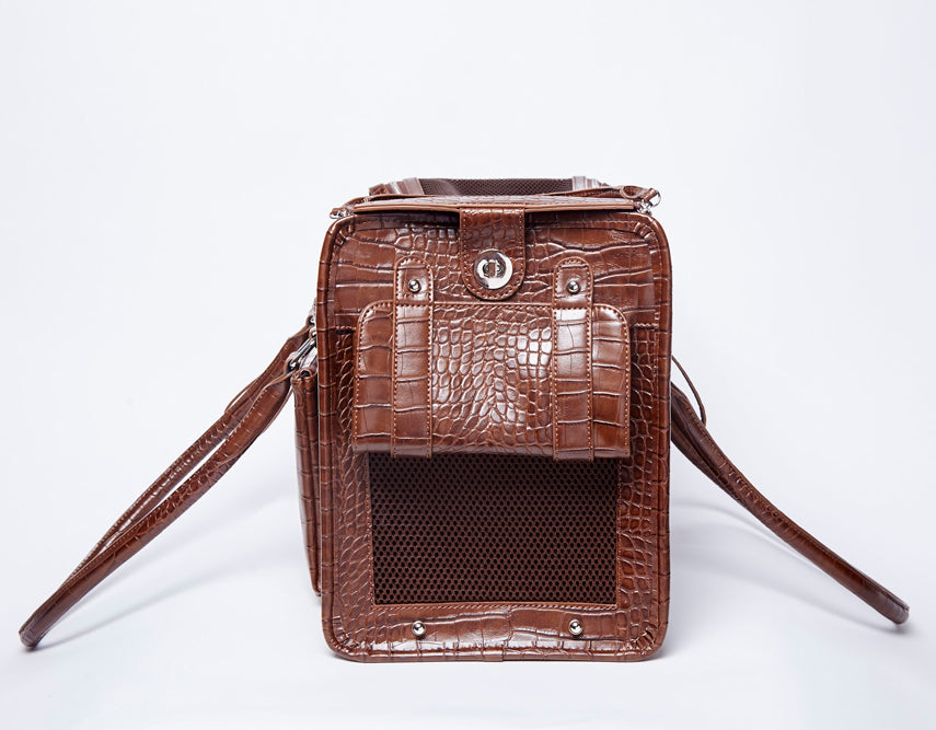The Tucker Pet Carrier Bag - Brown