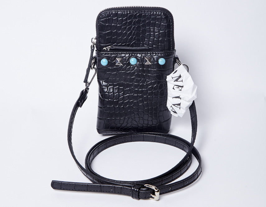 The Bitsy-Black/Turquoise
