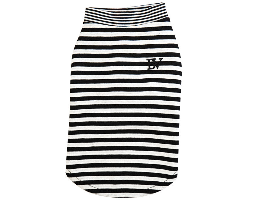 The Sidney - Black/White Stripe