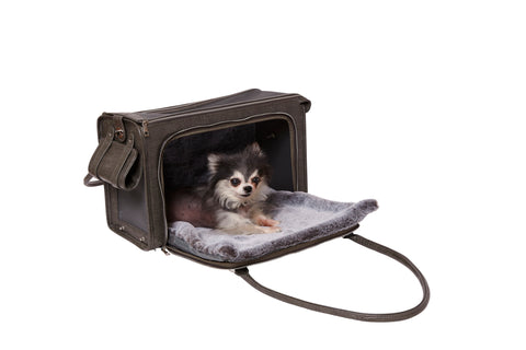 The Kuma Pet Carrier and Bed-Grey