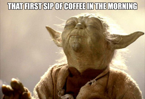 yoda coffee meme