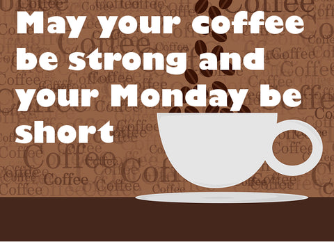 Coffee string and Monday's short