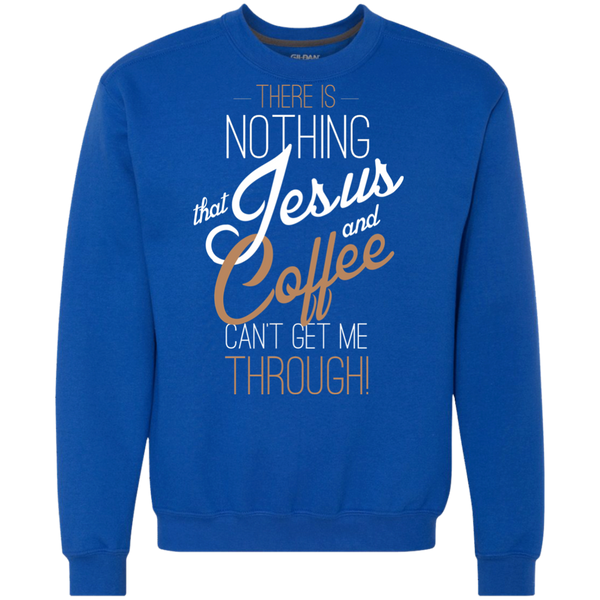 Nothing Jesus and Coffee Can't Get Me Through Sweatshirt, Apparel, CustomCat, Viper Coffee
