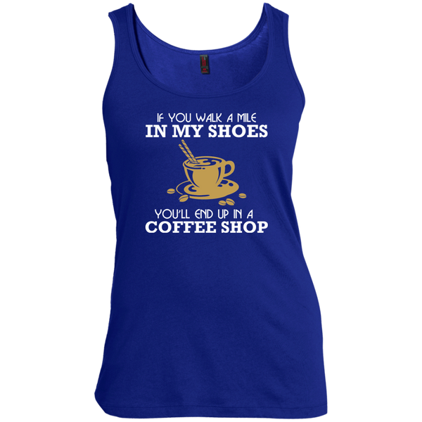 If You Walk A Mile In My Shoes, You'll End Up In A Coffee Shop, Apparel, CustomCat, Viper Coffee
