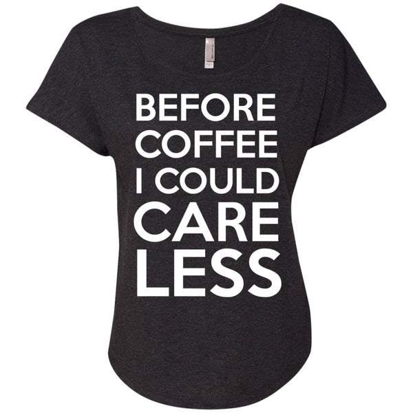 Before Coffee I Could Care Less Shirt, Apparel, CustomCat, Viper Coffee