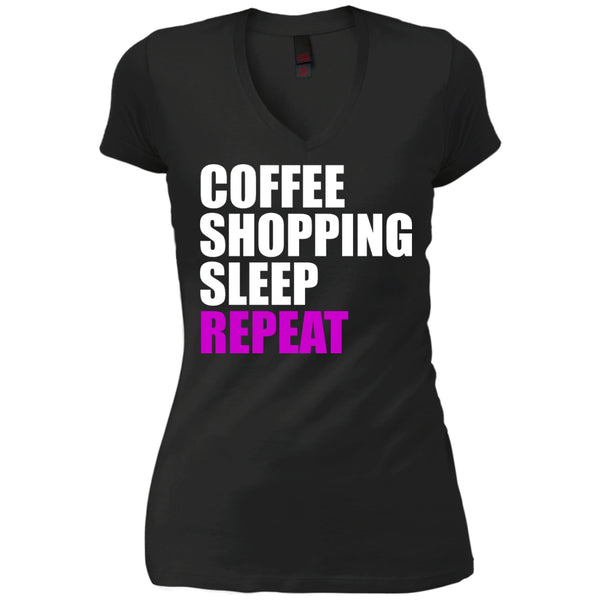 Coffee, Shopping, Sleep, Repeat, Apparel, CustomCat, Viper Coffee