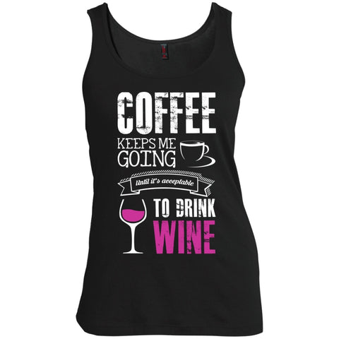 Coffee Till I Can Drink Wine, Apparel, CustomCat, Viper Coffee
