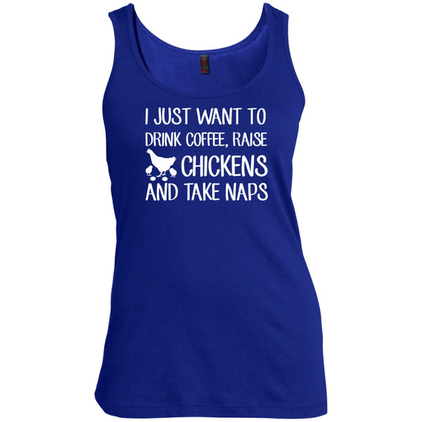 I Just Want To Drink Coffee, Raise Chickens & Take Naps, Apparel, CustomCat, Viper Coffee