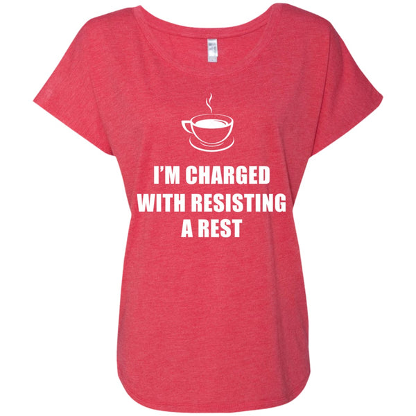 I'm Charged With Resisting A Rest, Apparel, CustomCat, Viper Coffee