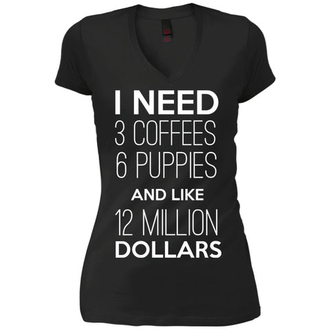 I need coffee, puppies & money!, Apparel, CustomCat, Viper Coffee