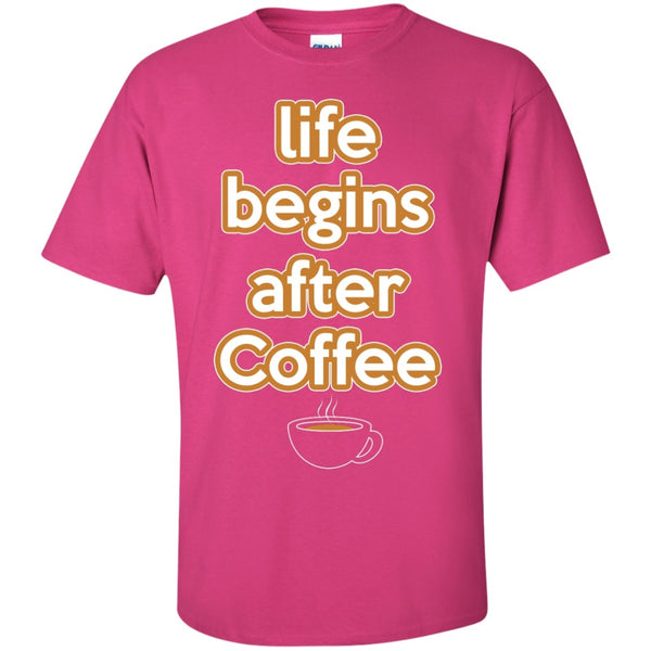 Life Begins After Coffee Shirt, Apparel, CustomCat, Viper Coffee