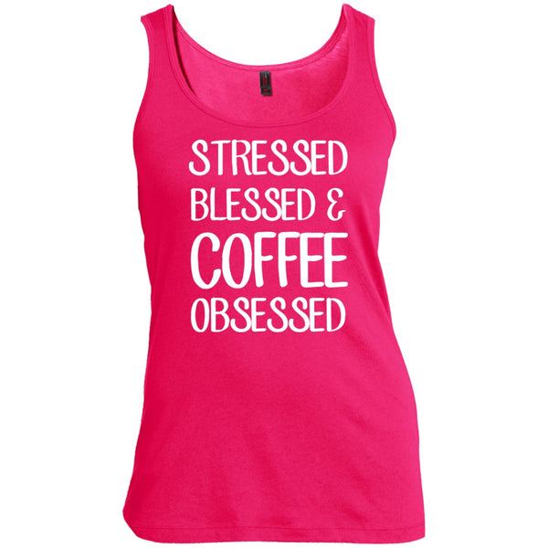 Stressed Blessed & Coffee Obsessed, Apparel, CustomCat, Viper Coffee