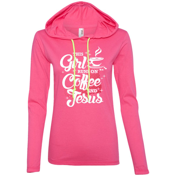 This Girl Runs On Coffee and Jesus, Apparel, CustomCat, Viper Coffee