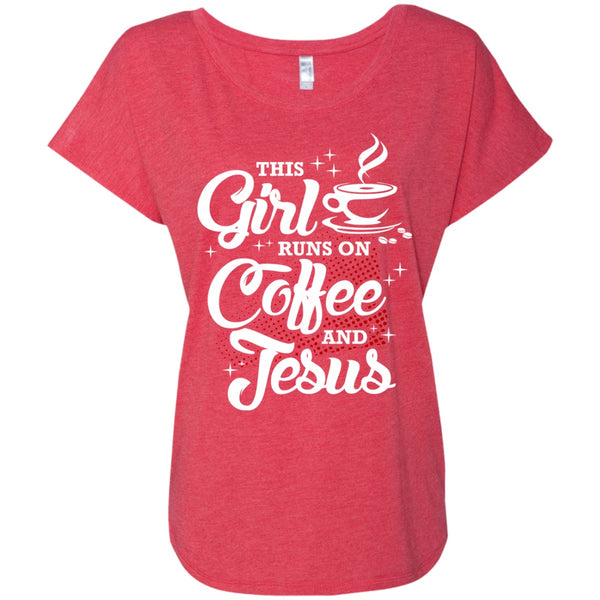 Apparel - This Girl Runs On Coffee And Jesus
