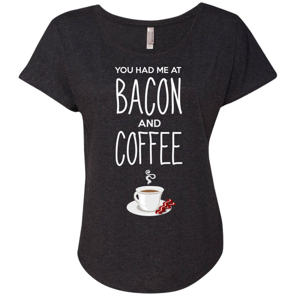 You had Me At Bacon And Coffee Shirt, Apparel, CustomCat, Viper Coffee