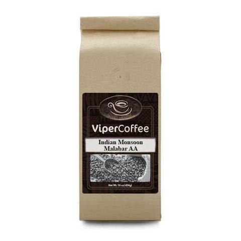 Indian Monsoon Malabar AA Coffee, coffee, Viper Coffee, Viper Coffee