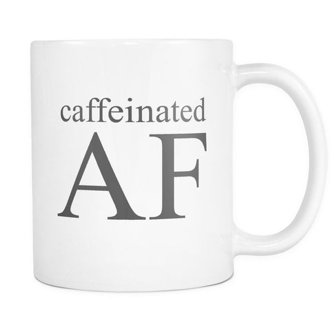 Caffeinated AF, Drinkware, teelaunch, Viper Coffee