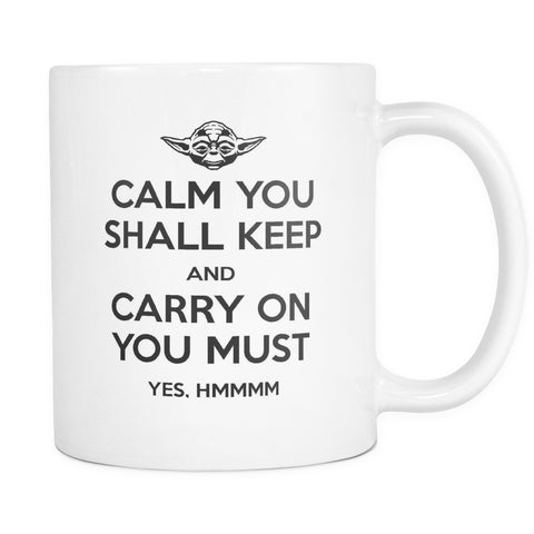 Calm You Shall Keep, Drinkware, teelaunch, Viper Coffee