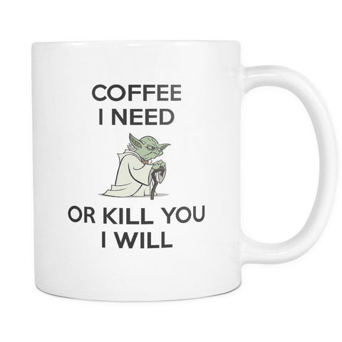 Star Wars Yoda Mug, Drinkware, teelaunch, Viper Coffee