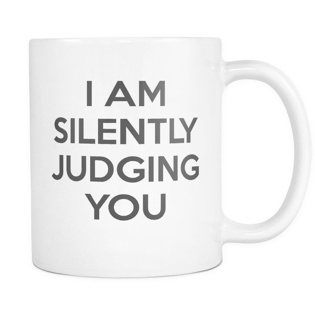 I'm SIlently Judging You, Drinkware, teelaunch, Viper Coffee