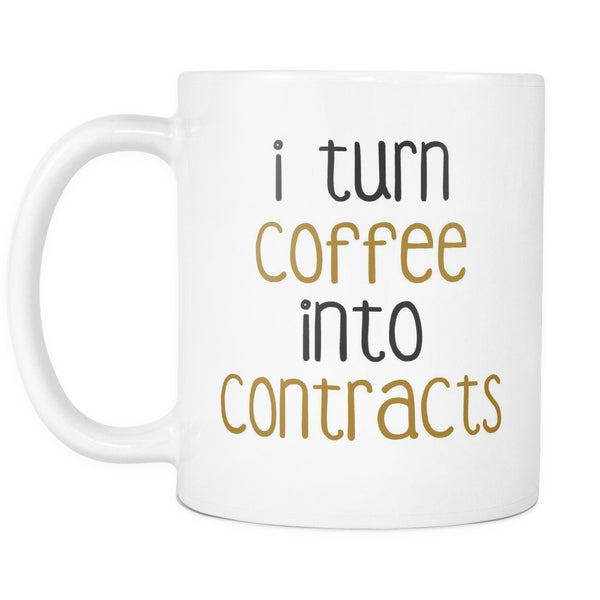 I Turn Coffee Into Contracts, Drinkware, teelaunch, Viper Coffee
