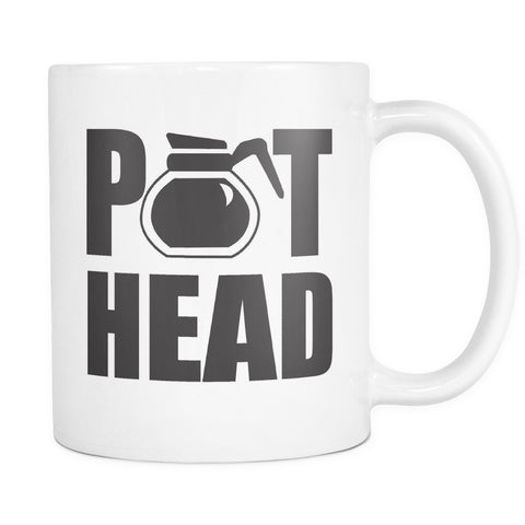 Pot Head Coffee Mug, Drinkware, teelaunch, Viper Coffee