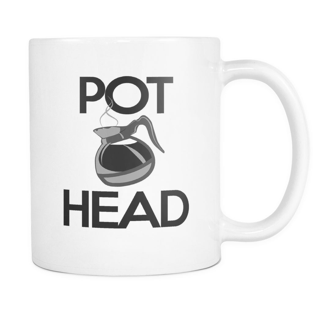 Pot Head Mug, Drinkware, teelaunch, Viper Coffee